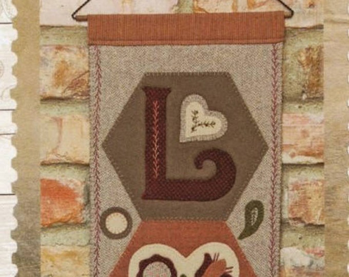 "Pattern & Button Kit: A Year of Hexi ""WORD"" Door Greeters - February ""LOVE"" by Buttermilk Basin"