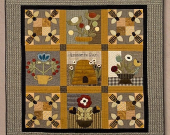 "Pattern: Wool Applique ""Remember the Giver"" by Timeless Traditions by Norma Whaley"