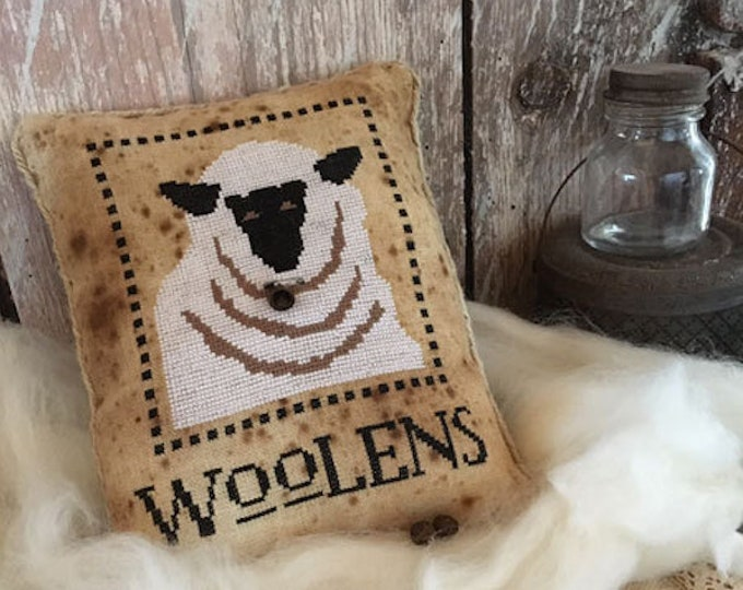 Pattern: Woolens Cross Stitch  - Primitive Hare