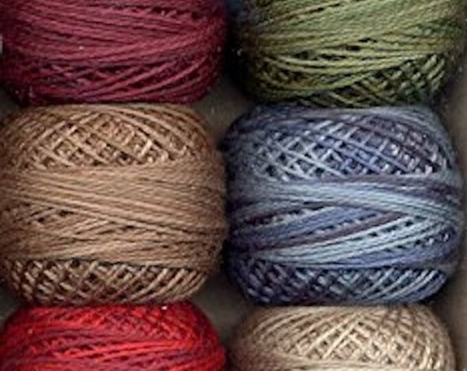"Floss & Threads: Valdani ""Artist s Palette"" Perle Cotton Size 12 Collection - Hand Dyed Colorfast"