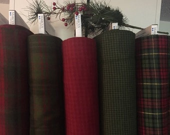 Fabric: Xmas Flannel Yardage - Primo Plaid Flannel line by Marcus Fabrics