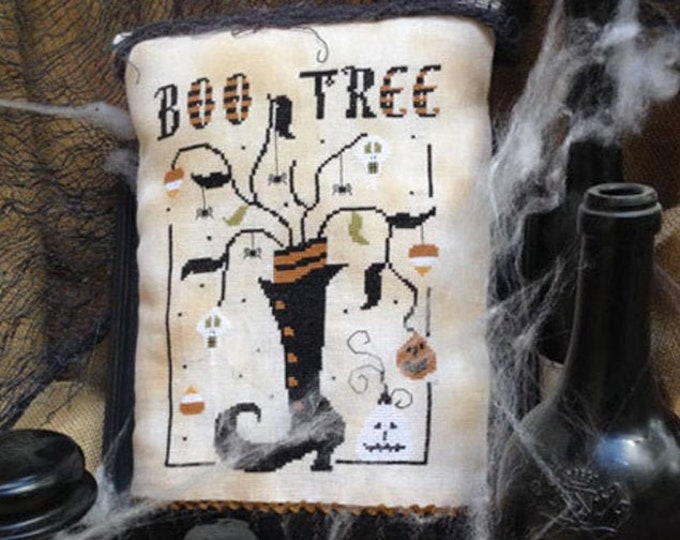 Pattern: Boo Tree Cross Stitch - by The Primitive Hare