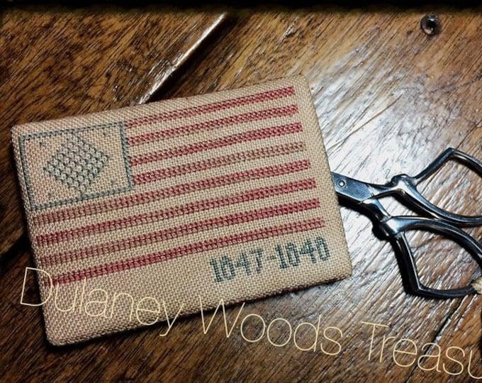 "Pattern: Cross Stitch ""1847-1848 Flag Scissor Keep"" - Dulaney Woods Treasures"