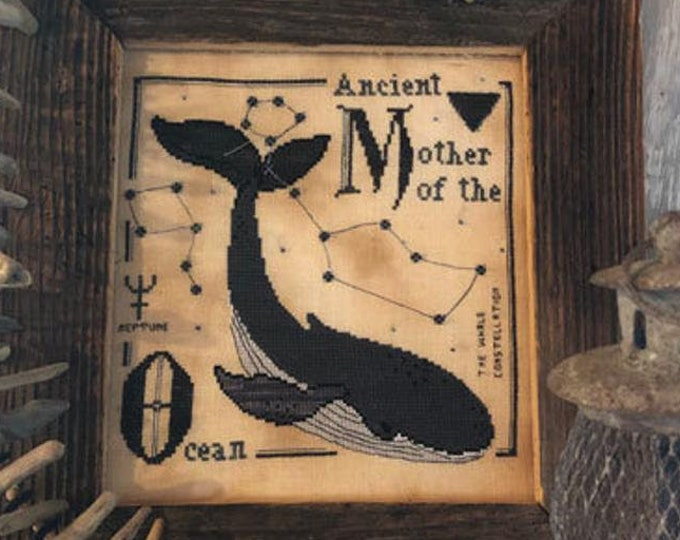 Pattern: Mother of the Ocean Cross Stitch - by The Primitive Hare