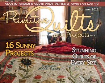 Magazine:Summer 2018 Primitive Quilts and Projects