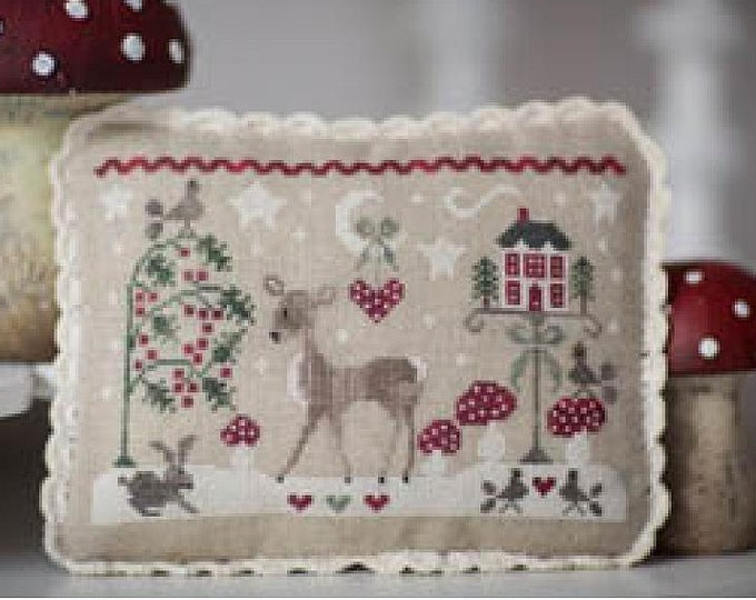 "Pattern: Cross Stitch  ""Tableautin d' hiver"" by Collection Tralala"