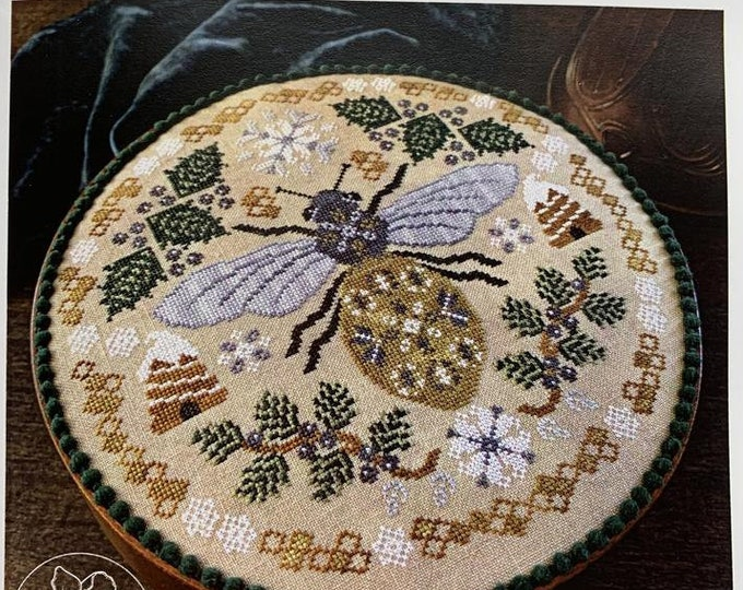 Pattern: Sleeping Bee Cross Stitch by The Blue Flower
