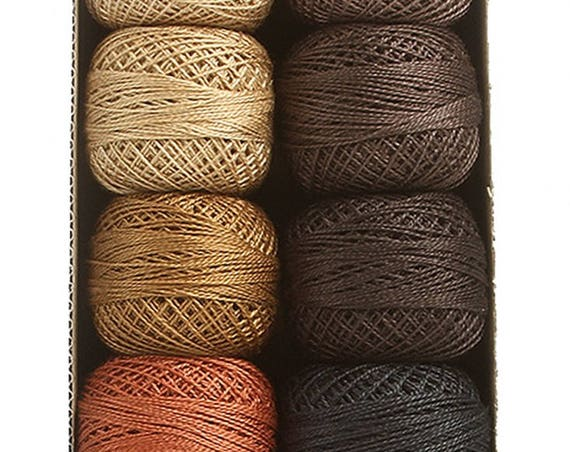 """Floss & Threads: Valdani """"As Time Goes By Set 2"""" - Perle Cotton Size 12 - Hand Dyed Solids"""