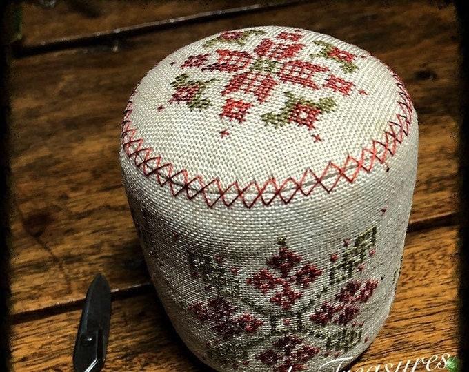 "Pattern: Cross Stitch ""Good Tidings Drum"" - Dulaney Woods Treasures"