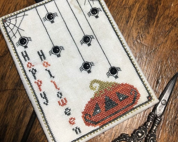 """Pattern: Cross Stitch """"Jack & his Button Spiders"""" - Dulaney Woods Treasures"""
