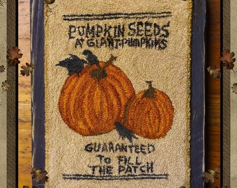 Pattern: Pumpkin Seeds  Punch Needle by Kanikis