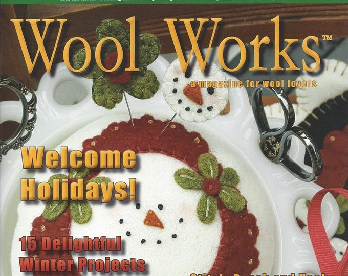 Magazine: WOOL WORKS -  Winter 2019 - A Magazine for Wool Lovers!