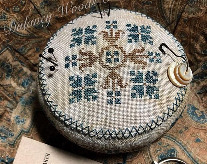 "Pattern: Cross Stitch ""1870 Floral Drum"" - Dulaney Woods Treasures"