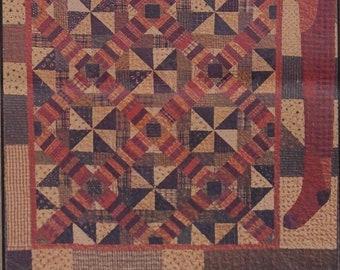 "Pattern: ""Santa Jack"" Quilt Pattern by Primitive Pieces by Lynda"