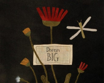 "Pattern: ""Dream Big"" Wool Applique by  Maggie Bonanomi"