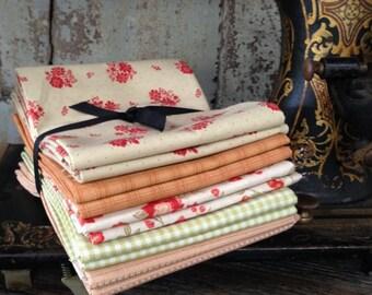 Fabric: FAT QUARTER Sampler Double Bundle Country Colors Selection - Lecien Fabrics
