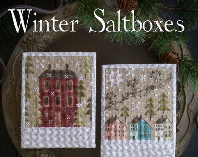 Pattern: Winter Saltboxes Cross Stitch  by Plum Street Samplers