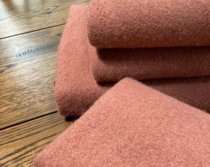 Wool: Half Yard 100% Felted Wool - DARK ROSE - Buttermilk Basin