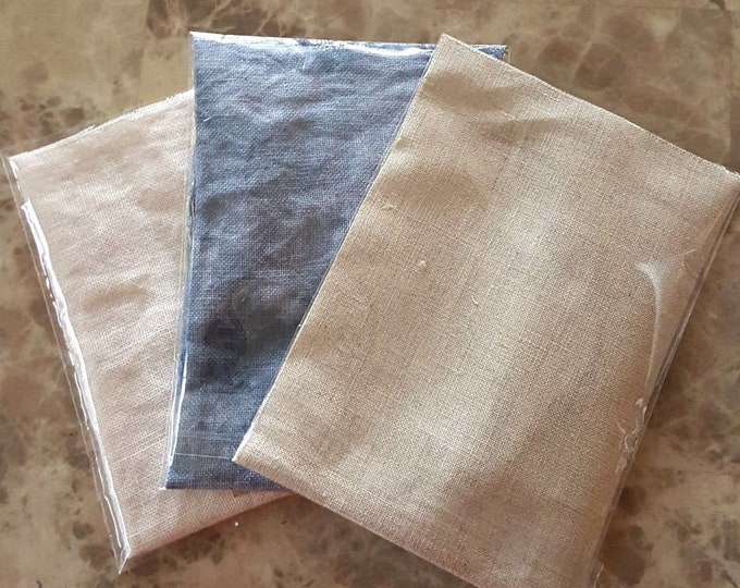 Linen: Various Cut Sizes of 32ct and 40ct linen cloth