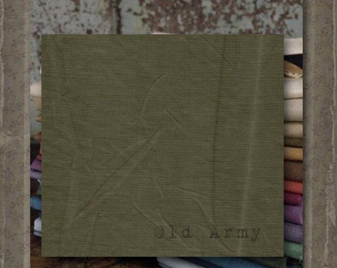 "Fabric 1 YARD: Aged Muslin Cloth (New) - Color ""Avocado"" #7701-0164 Marcus Fabrics"