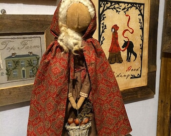 Pattern: Red Riding Hood Doll  - by The Nest for Primitive Hare