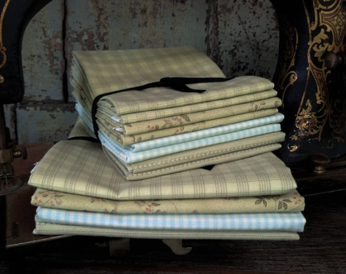 Fabric: Bundle FQ/Half Yard Sampler - Green/Blue Selection - Lecien Fabric