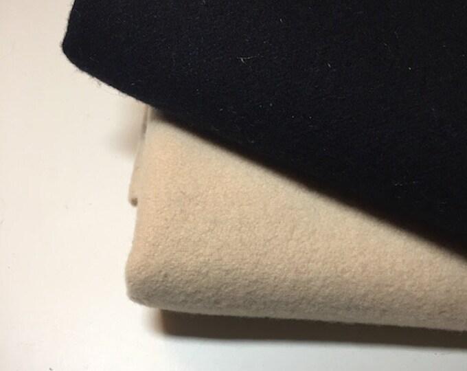 Wool: 80/20 Wool BLACK or CREAM - by Moda Fabrics