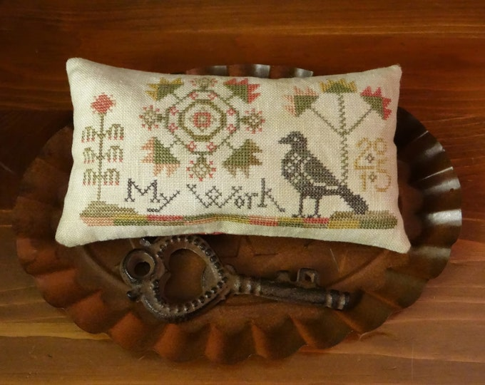Pattern: My Work Cross Stitch by Threadwork Primitives