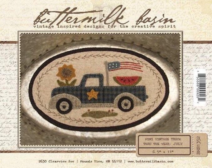 "Pattern: July Mini Vintage Truck Thru the Year - July ""Flag"" by Buttermilk Basin"