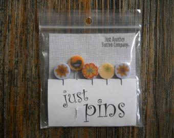 Notions: Just Pins - Orange Lemonade JP104O - Decorative Pins