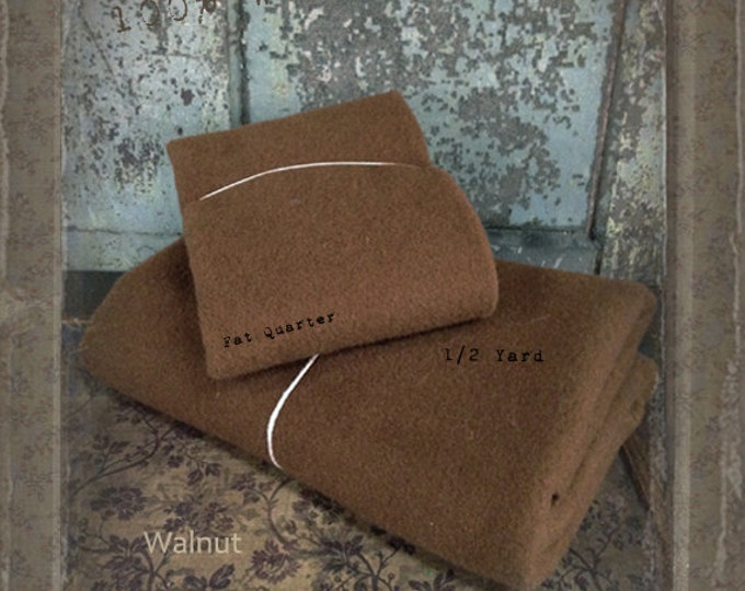 Wool: Fat Quarter 100% Wool - Walnut - Marcus Fabrics