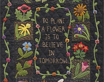 Pattern: To Plant A Flower Wall Hanging by Primitive Gatherings
