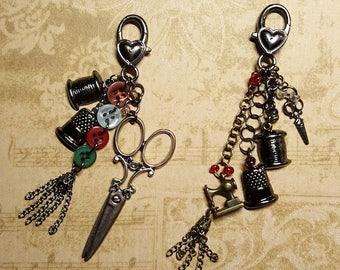Handmade Finished Goods: Vintage Handmade Scissor Fob