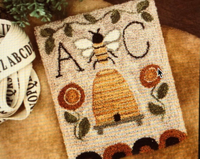 Pattern: Bee Garden Punch Needle  by Little House Needleworks