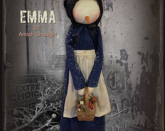 Pattern: Emma the Amish Snowgirl by Sparkles N Spirit