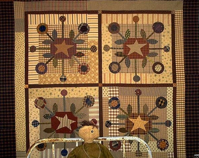 Pattern: The Bundling Board Quilt Pattern by Primitive Pieces by Lynda