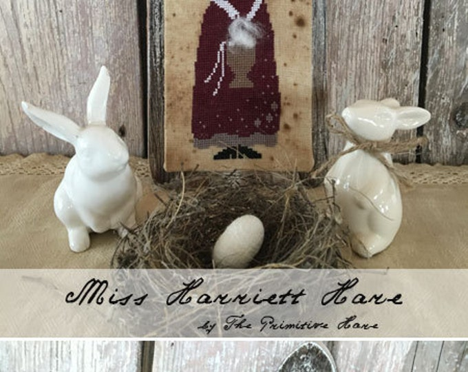 Pattern: Miss Harriett Hare Cotton Cross Stitch - The Primitive Hare