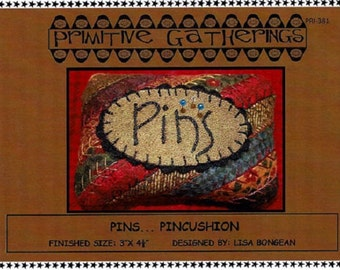 Wool Kit with Pattern: Pins Pincushion by Primitive Gatherings