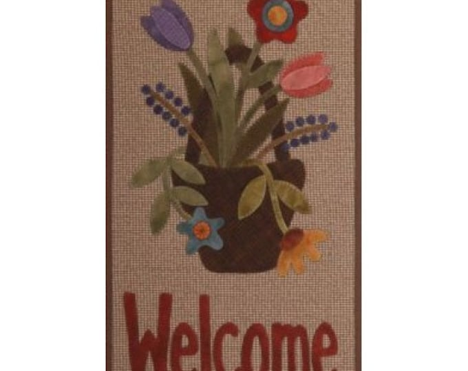 Pattern: May Basket Welcome Banner by Primitive Gatherings
