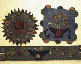Pattern: Dry Goods Wool Applique Projects by Primitive Pieces by Lynda