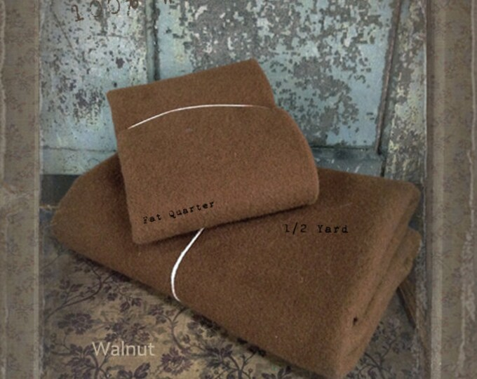 Wool: 1 YARD  Piece 100% Wool - WALNUT - Marcus Fabrics