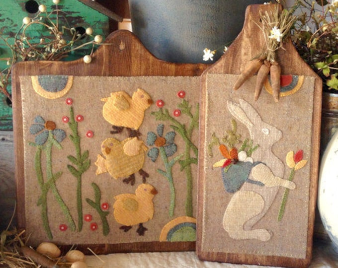 "Pattern: ""Sweet Spring"" Wool Appliqué by 1894 Cottonwood House"