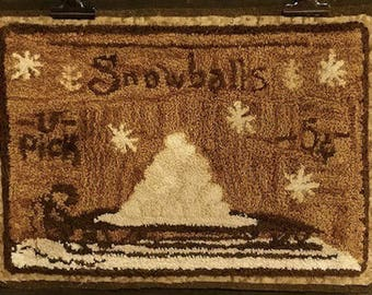 "Pattern: ""Snowballs - 5 cents"" Punch Needle Pattern by Kanikis Prims and Whims"