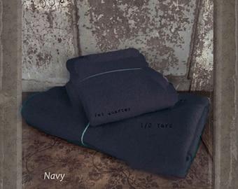 Wool: HALF YARD  Piece 100% Wool - NAVY - Marcus Fabrics