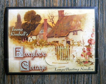 Notions: Longs/ Basting Needle Sampler Card/ Jeana Kimball Foxglove Cottage