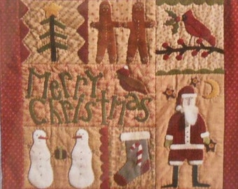 Pattern: Merry Christmas! Quilt Pattern by Briar Root Primitives