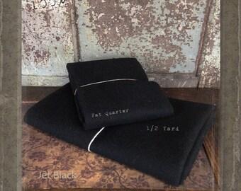 Wool: Half Yard 100% Wool - JET BLACK - Marcus Fabrics