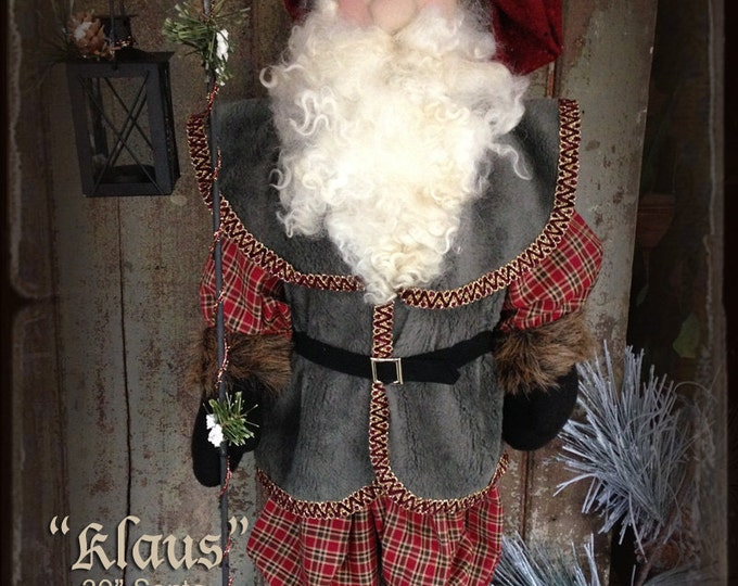 Pattern: Klaus Santa Doll by Sparkles N Spirit