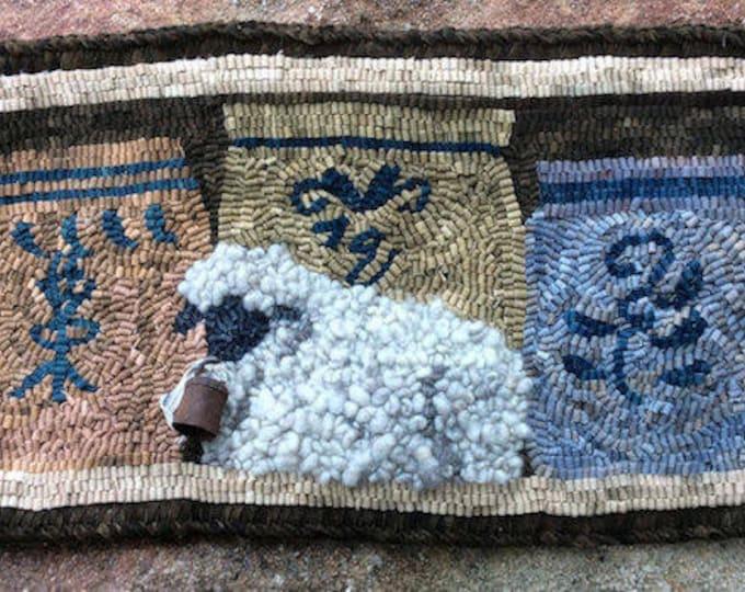"""Pattern:  Rug Hooking Pattern """"Lamb and Crocks"""" by Vintage Heart Rug Design (Yvonne Buus)"""