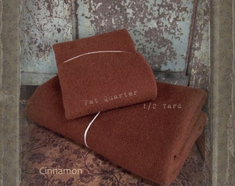 Wool: Half Yard 100% Wool - Cinnamon - Marcus Fabrics